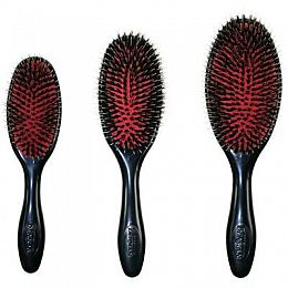 Denman Grooming Cushion Mixed Nylon & Boar Bristle Brushes