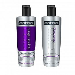 Osmo Super SIlver No Yellow Shampoo & Silverising Conditioner Set